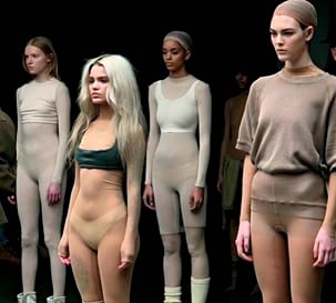 Yeezy Season 2 models